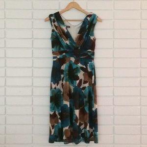 Jones NY Jones Wear Dress Teal & Brown Floral